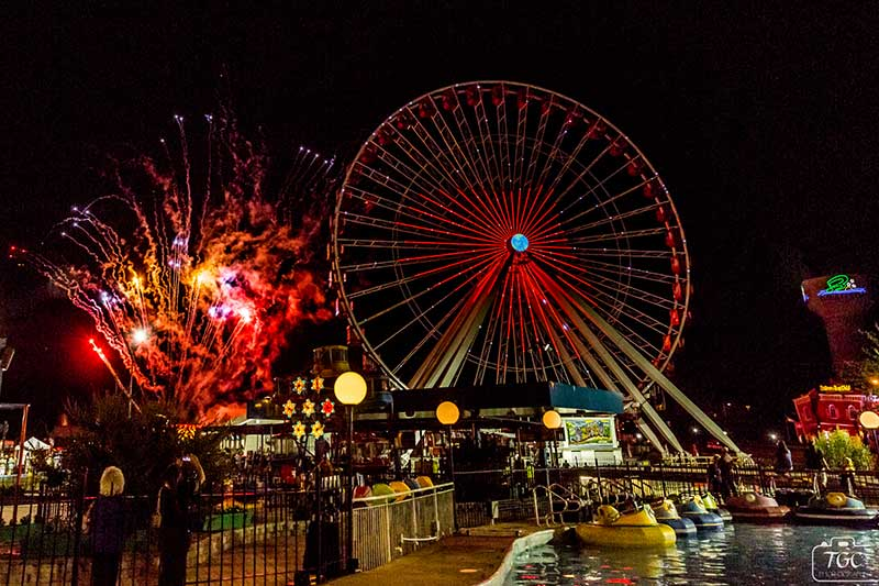 Branson Ferris Wheel Fireworks